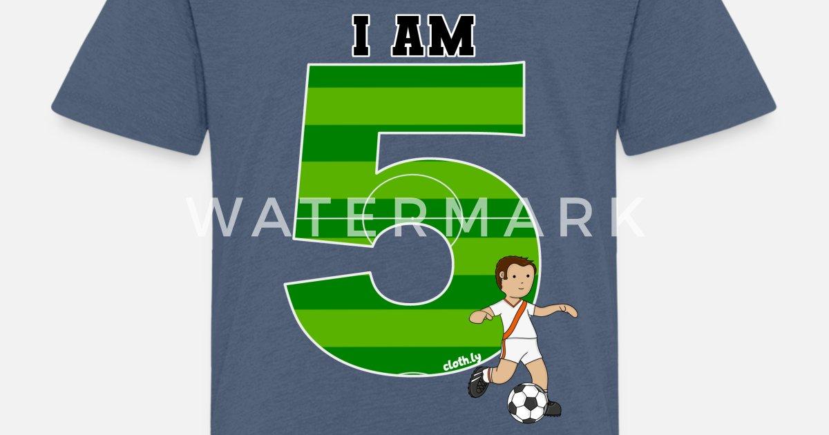 0eecdfe379b 5th Birthday T-Shirt Boys Soccer, Football Toddler Premium T-Shirt ...