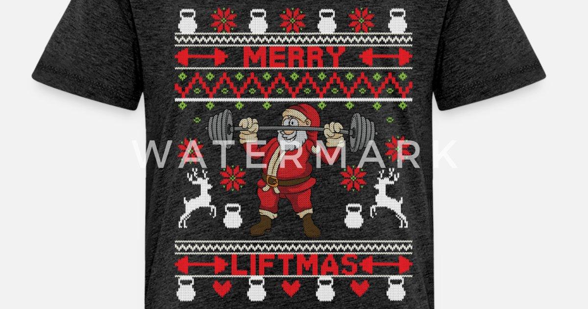 067787d4aa98c Merry Liftmas Santa Claus Workout Weight Xmas Gift Toddler Premium T-Shirt