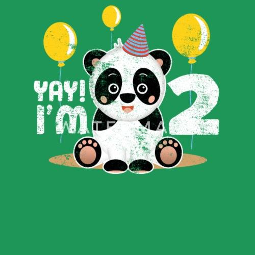 Cute 2nd Birthday Panda Kid Boy Girl 2 Years Old By EasyTeezy