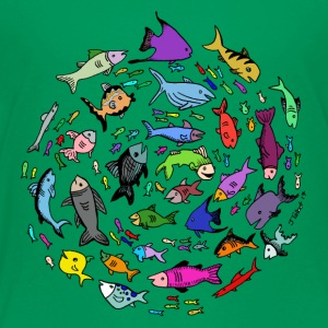 A Swirl of Fish - Toddler Premium T-Shirt