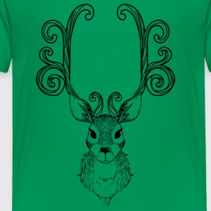 Abstract Reindeer Illustration - Toddler Premium T-Shirt