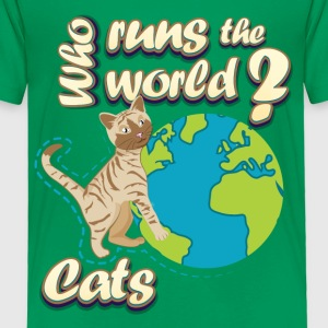 Cats Run the World - Toddler Premium T-Shirt