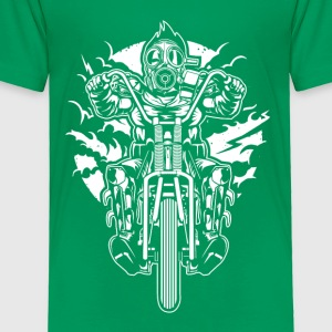 Gasmask Chopper. The Nasty Biker! - Toddler Premium T-Shirt