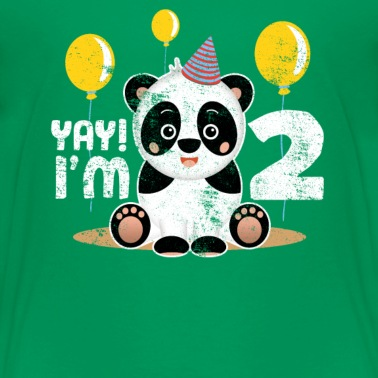 Cute 2nd Birthday Panda Kid Boy Girl 2 Years Old