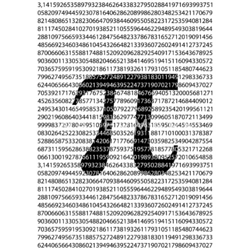 Original Black Number Pi Day Mathematical Symbol By Dimkadnb