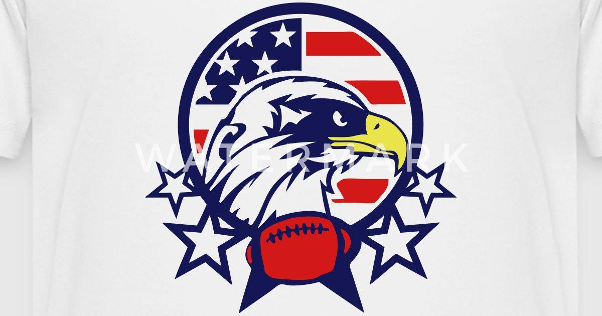 American Eagle Football Ball Logo Sport By Achille Spreadshirt