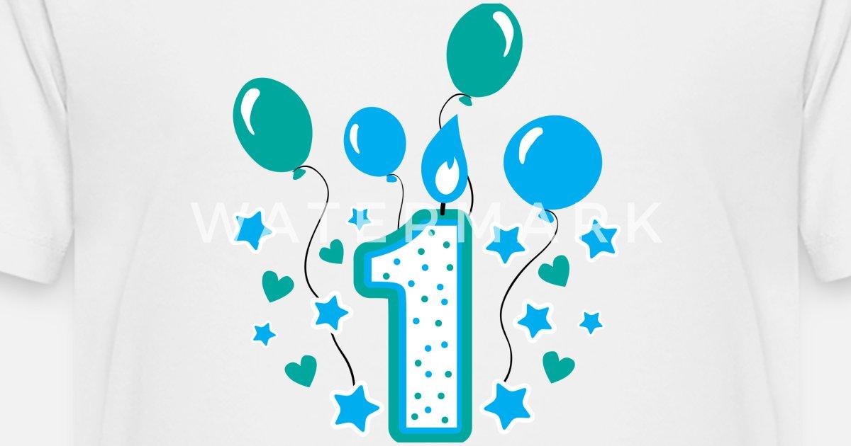Kids Premium T ShirtFirst Birthday Boy 1st Toddler Gift 1year