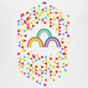 Rainbow vs Triangles - Kids' Premium T-Shirt