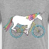 unicorn riding bike - Kids' Premium T-Shirt