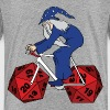 wizard riding bike with 20 sided dice wheels - Kids' Premium T-Shirt