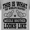 Okayest Middle Brother - Kids' Premium T-Shirt