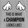 This Is What A Champion Looks Like! (Hands / Pos) - Kids' Premium T-Shirt