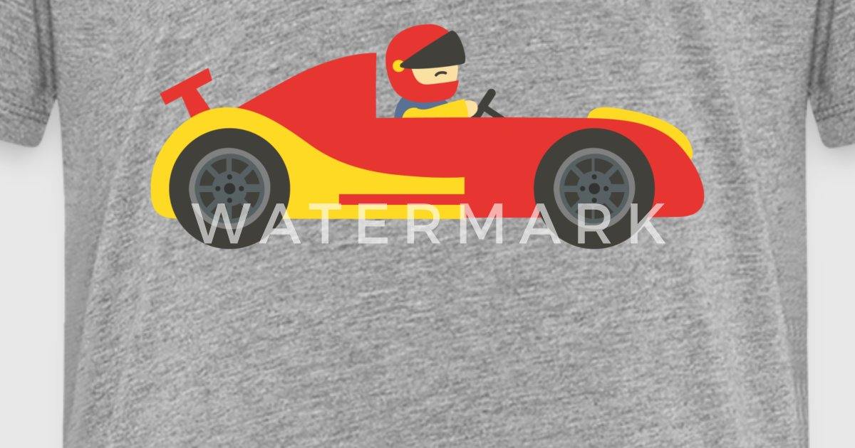 cute red and yellow race car with driver by rustydoodle spreadshirt. Black Bedroom Furniture Sets. Home Design Ideas