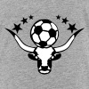 bull logo soccer ball sports - Kids' Premium T-Shirt