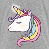 Cute Unicorn with Rainbow Colors, Unicorns, Horses - Kids' Premium T-Shirt