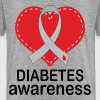 Diabetes Awareness Ribbon Walk - Kids' Premium T-Shirt