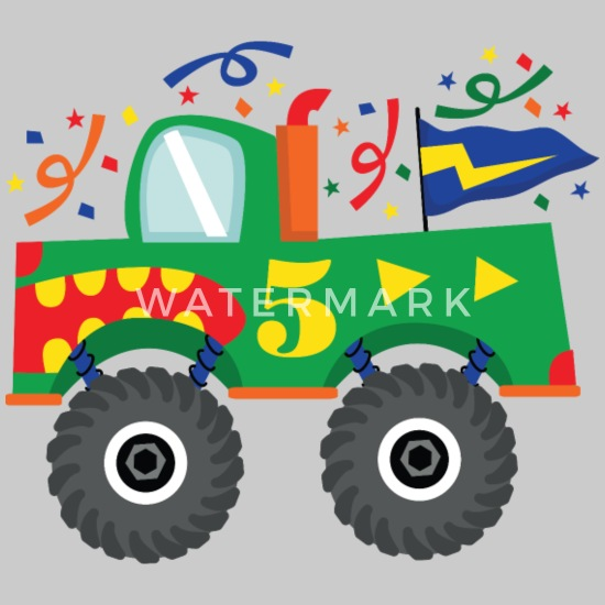 8cb7730a4 Babyproducts T-Shirts - 5th Birthday Monster Truck Party - Kids' Premium  T-. Customize