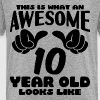 This is what an Awesome 10 year old looks like - Kids' Premium T-Shirt
