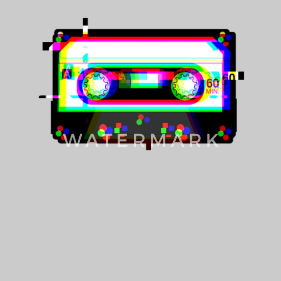 Cassette Tape Glitch 90s Retro Vaporwave Aesthetic Kids