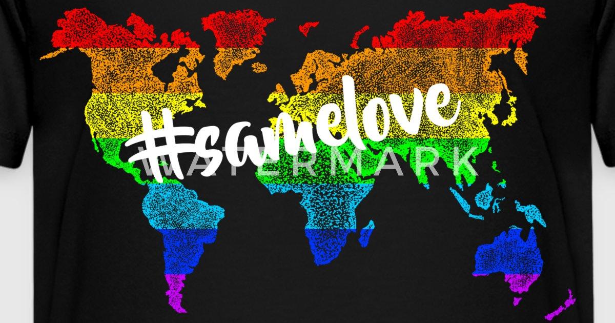 Worldmap lgbt rainbow samelove by l4wrenceus spreadshirt gumiabroncs Gallery