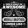 Awesome Middle Brother - Kids' Premium T-Shirt