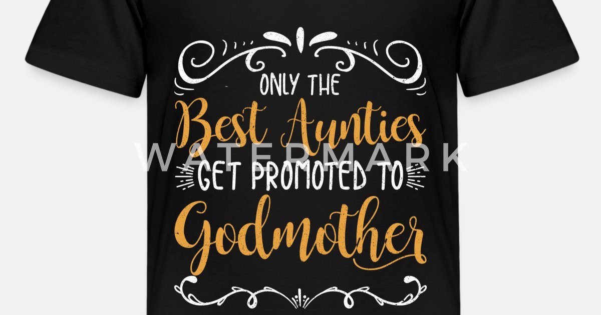febb42012 Kids' Premium T-ShirtOnly Best Aunts Get Promoted Godmother Godparent