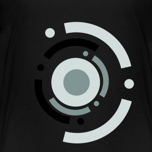 Triple Black dots in circle - Kids' Premium T-Shirt