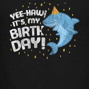 Birthday Buddy Friend Boy Girl Shark Yee-Haw! - Kids' Premium T-Shirt