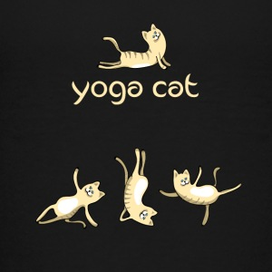 yoga Cat namaste shiva woman fun buddha cute humor - Kids' Premium T-Shirt