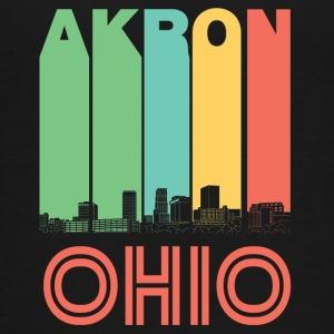 Retro Akron Ohio Skyline - Kids' Premium T-Shirt
