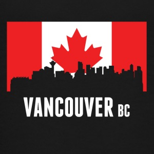 Canadian Flag Vancouver Skyline - Kids' Premium T-Shirt