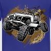 Off-Road Mudding White Jeep - Kids' Premium T-Shirt