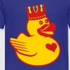 Rubber Duck King Crown Heart Love - Kids' Premium T-Shirt