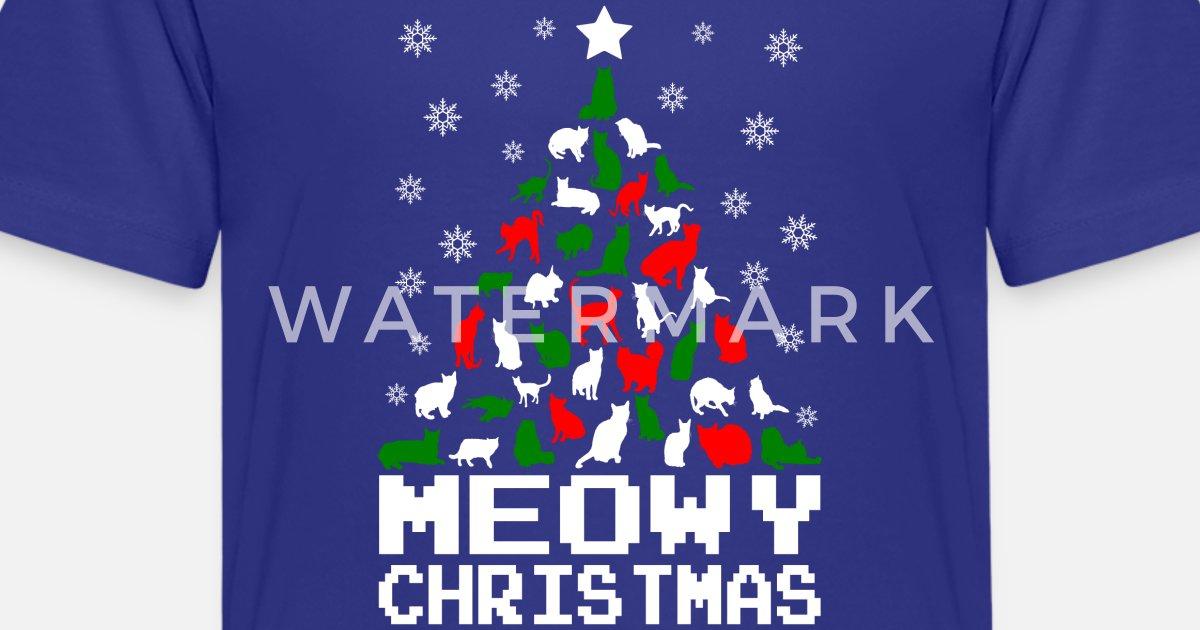 c175a2ca4 Meowy Christmas Cat Tree Ugly Kids' Premium T-Shirt | Spreadshirt