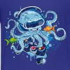 Octopus with gamepad and VR goggles - Kids' Premium T-Shirt