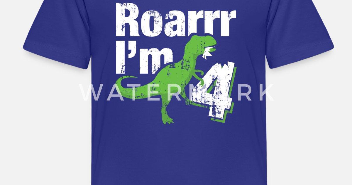 Kids Premium T Shirt4 Year Old Birthday Dinosaur Gift