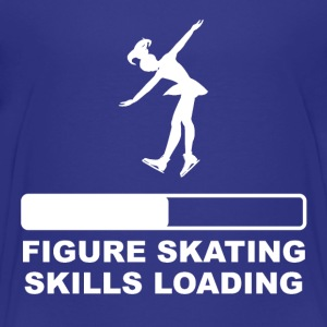 Figure Skating Skills Loading - Kids' Premium T-Shirt