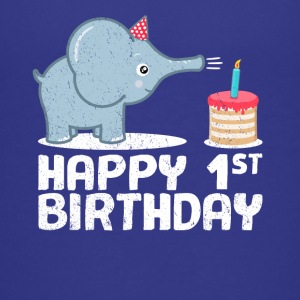 Happy 1st Birthday Cute Elephant Zoo Animal Gift - Kids' Premium T-Shirt