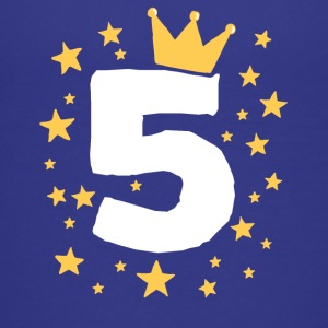Kids Birthday 5 Year Boy King Girl Princess Crown - Kids' Premium T-Shirt