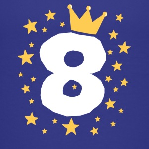 Kids Birthday 8 Year Boy King Girl Princess Crown - Kids' Premium T-Shirt