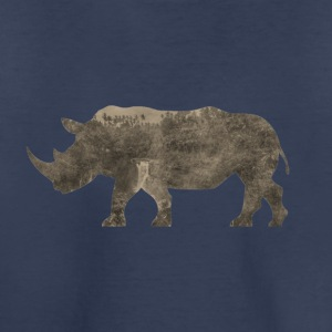 Silhouette Jungle Series Rhino - Kids' Premium T-Shirt