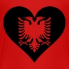 Albanian Eagle Heart - Kids' Premium T-Shirt