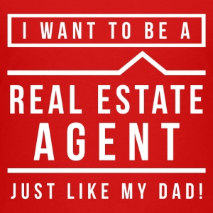 I want to be a real estate agent like Dad(White) - Kids' Premium T-Shirt