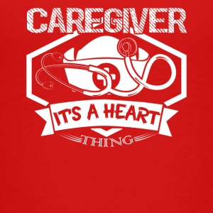 Caregiver Heart Shirt - Kids' Premium T-Shirt