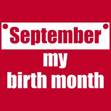 September My Birth Month Baby Bib   Spreadshirt