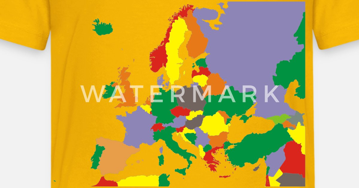 Political Map For Kids.Political Map Of Europe Restored Kids Premium T Shirt Spreadshirt