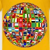 World Flag Buttons Globe - Kids' Premium T-Shirt
