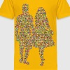 Prismatic Couple Holding Hands Silhouette 4 - Kids' Premium T-Shirt