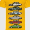 Stack of Volvo 240 Series 242 Brick Coupes - Kids' Premium T-Shirt