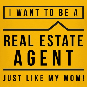 I want to be a real estate agent like Mom (black) - Kids' Premium T-Shirt